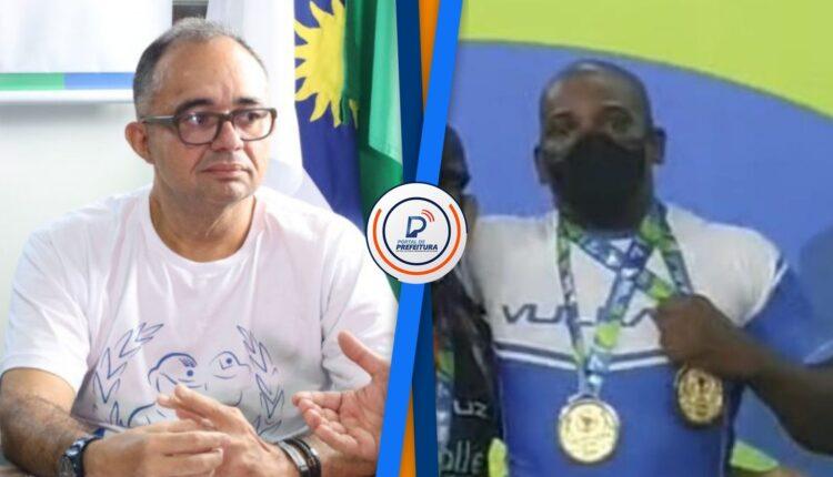 O presidente da ACS-PE Albérisson Carlos e PM Damasio/ Foto: Divulgação